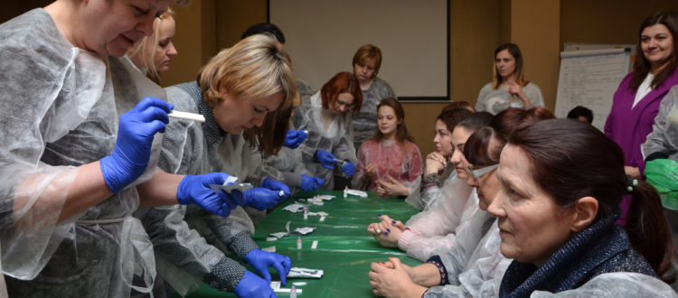 75 family doctors of Odessa and Belgorod-Dnestrovski were taught to make HIV testing.
