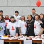 Акция, посвященная Всемирному Дню борьбы со СПИДом 1 декабря 2016.